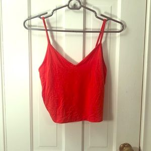 Forever 21 tank top orange crop top